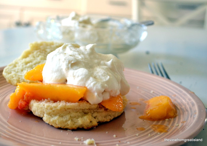 Fresh peach Shortcake | The View From Great Island