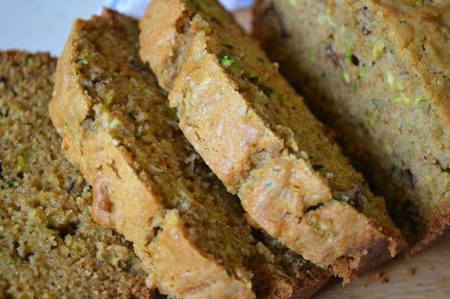 Classic Zucchini Bread, sliced