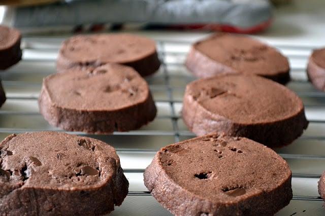 Maida Heatter's Chocolate Shortbread Cookies