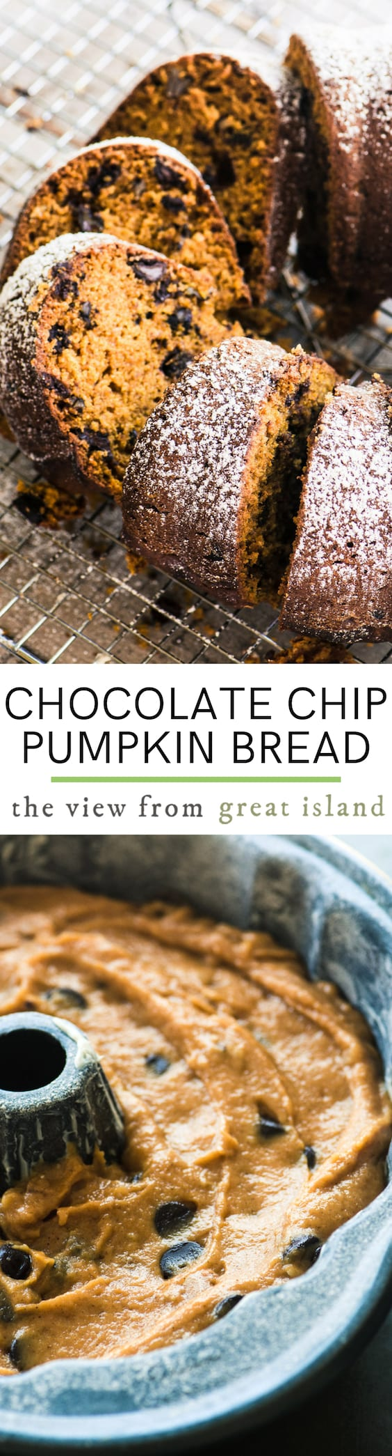 chocolate chip pumpkin bread pin