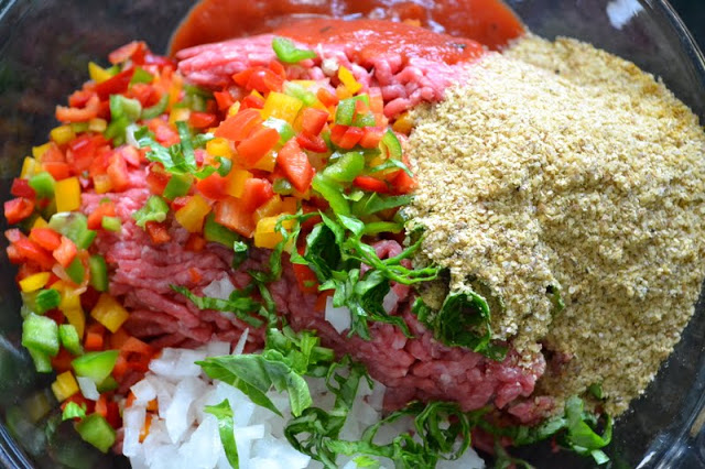 Colorful flavorful meatloaf recipe