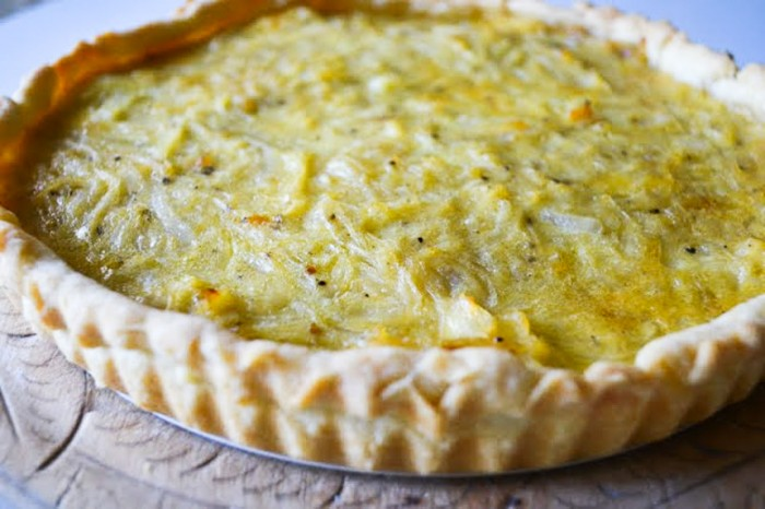 Elizabeth David's simple Onion Tart