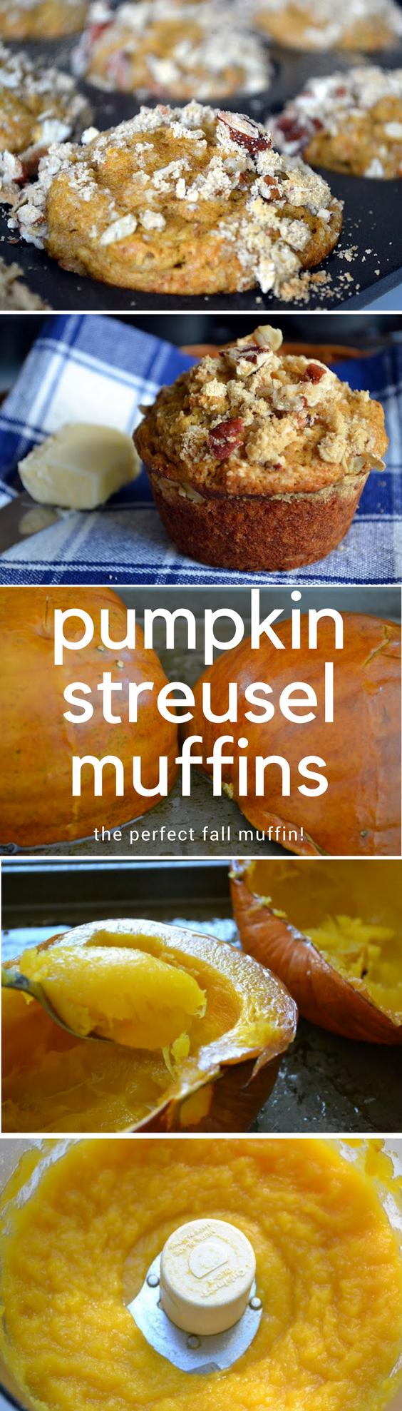 These Pumpkin Streusel Muffins pin
