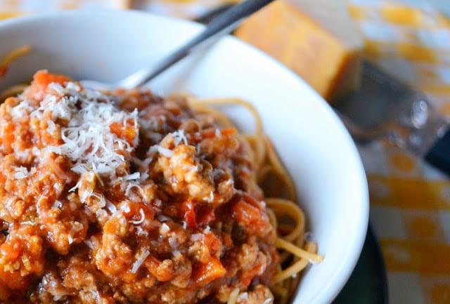 Pasta Bolognese recipe ~ theviewfromgreatisland.com