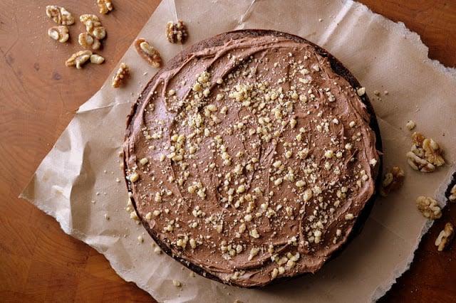 Dark Chocolate Walnut Cake