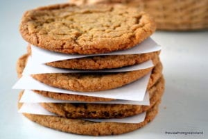 a stack of ginger cookies