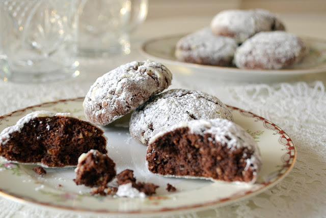 Bourbon Pecan Crackle Cookies