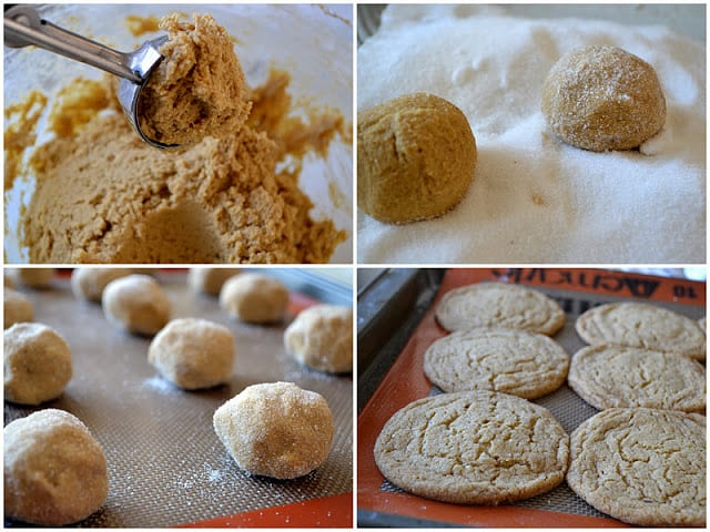 How to make chewy ginger cookies, step by step photos