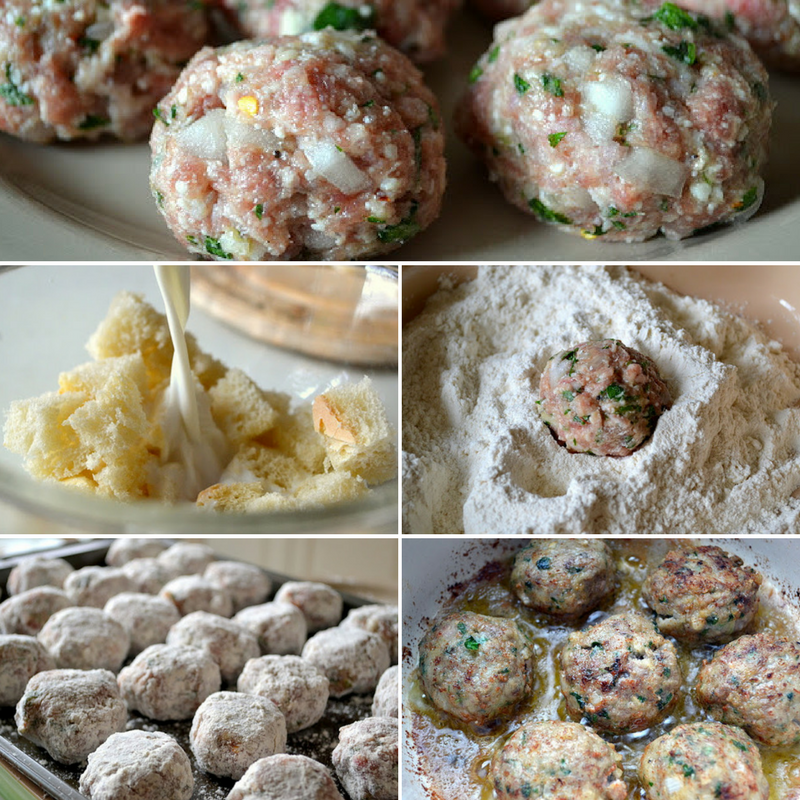 making meatballs al forno, step by step
