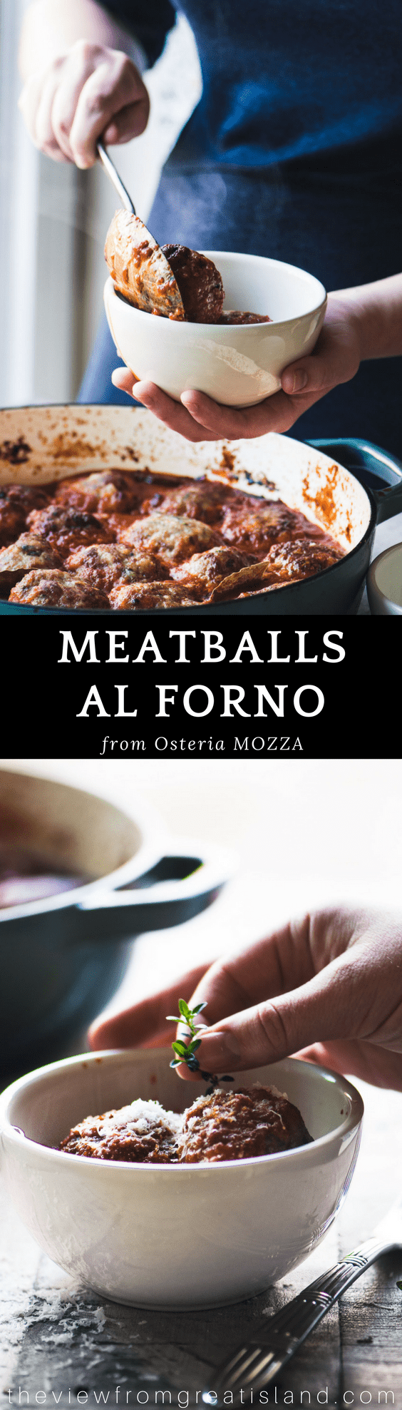 Meatballs al forno are simply the best meatballs in the world ~ try them and see! #meatballs #mozza #nancysilverton #Italianmeatballs #bestmeatballs #dinner #maincourse #groundbeef #veal #appetizer #meat #beef #angusbeef #meatballrecipe