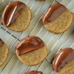 Espresso Hazelnut Shortbread Cookies