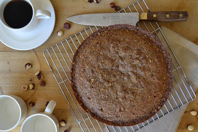 Coffee Walnut and Hazelnut Cake