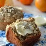 Orange Walnut Oat Bran Muffins