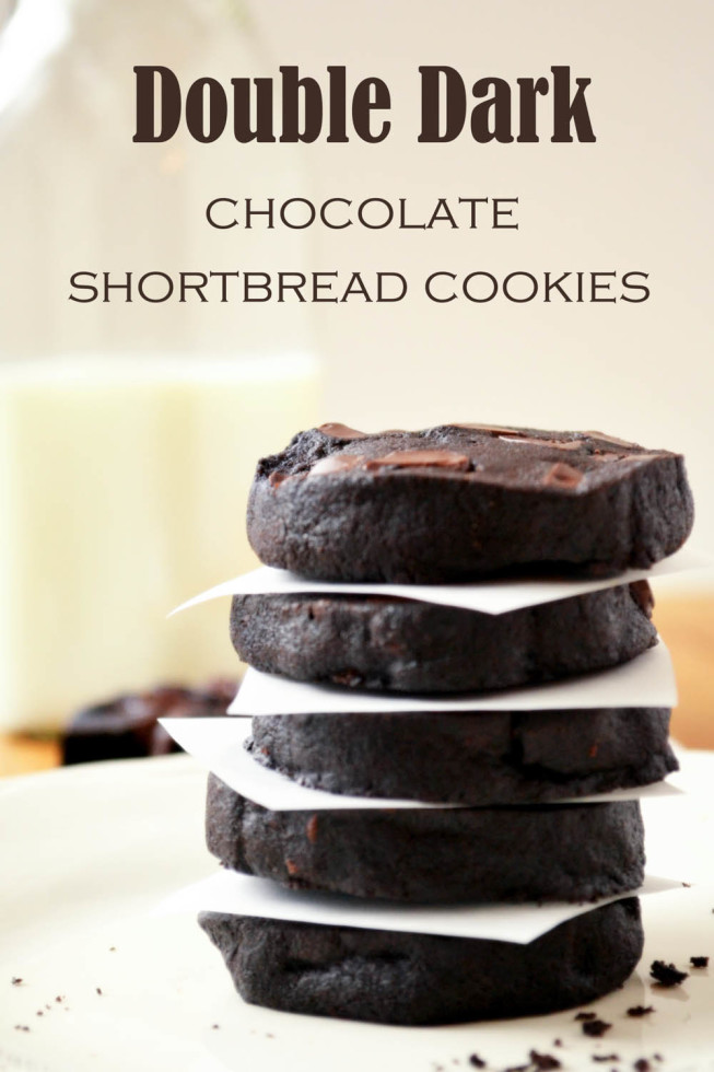 Double Dark Chocolate Shortbread Cookies 1