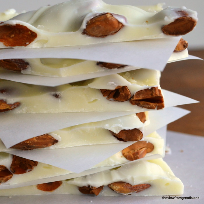 White Toasted Almond Bark with Sea Salt - The View from Great Island