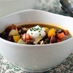 Black Lentil and Ham Soup