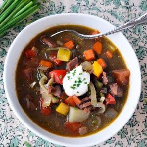 Black lentil and ham soup ~ theviewfromgreatisland.com
