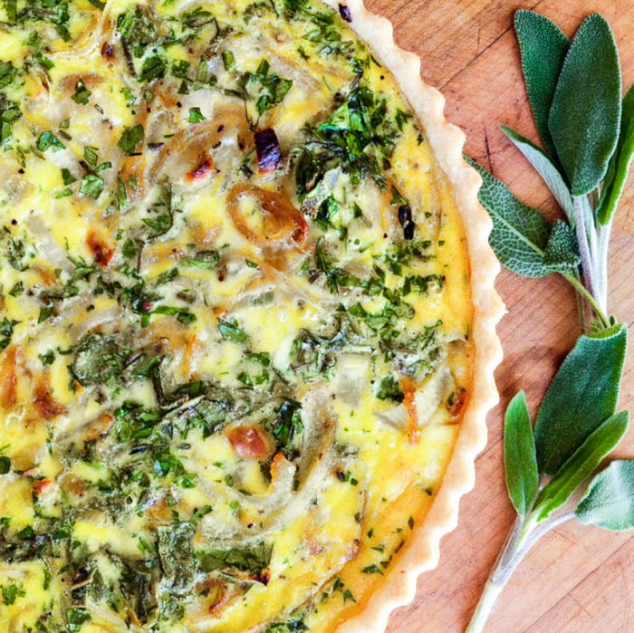 Caramelized Onion and Goat Cheese Tart is the perfect light summer meal