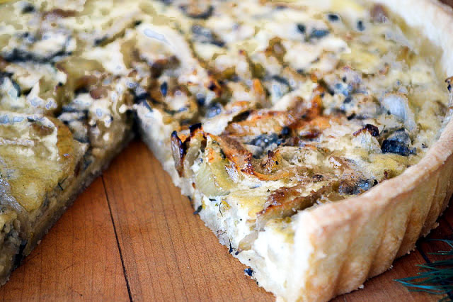 This Fennel And Roquefort Tart is a lovely light meal