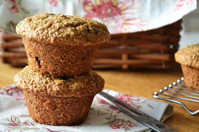 Cherry Almond Bran Muffins