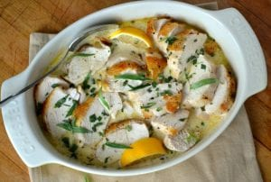 Roast Chicken with Tarragon
