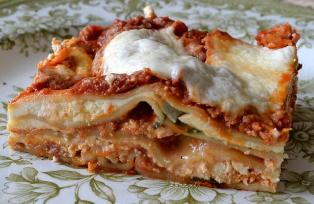 Meatless Lasagna Arrabbiata