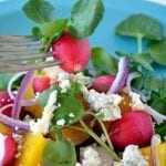 Minimal Monday: Golden Beet, Watercress and Gorgonzola Salad