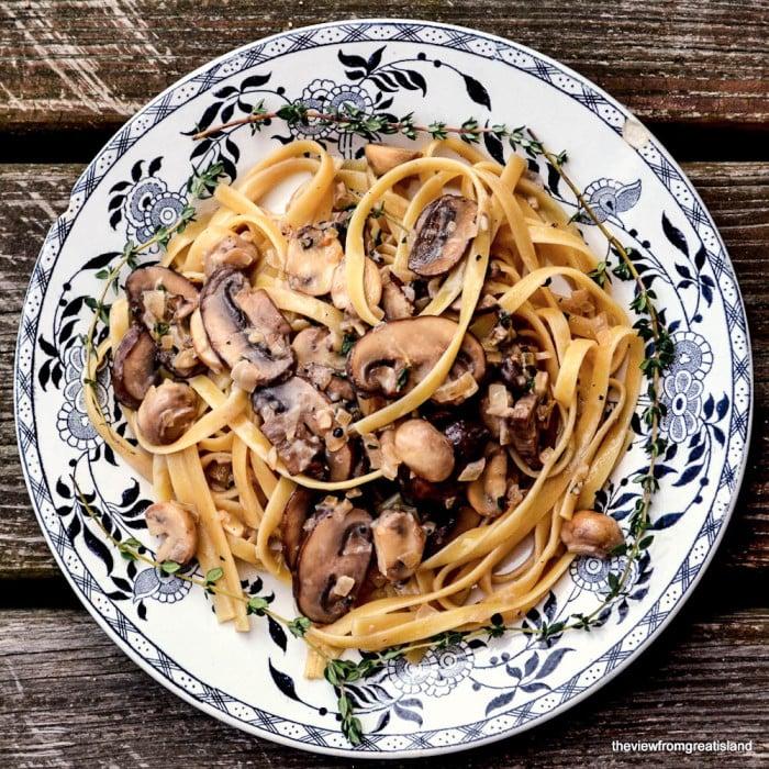 Fettuccine Mushroom Marsala
