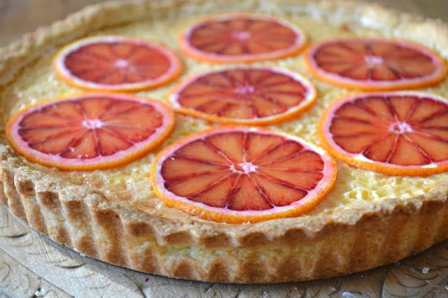 Sicilian Orange Tart ~ celebrate citrus season with a rustic Italian tart that is stunningly gorgeous.
