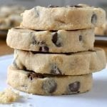 Peanut Butter Chocolate Chip Shortbread Cookies