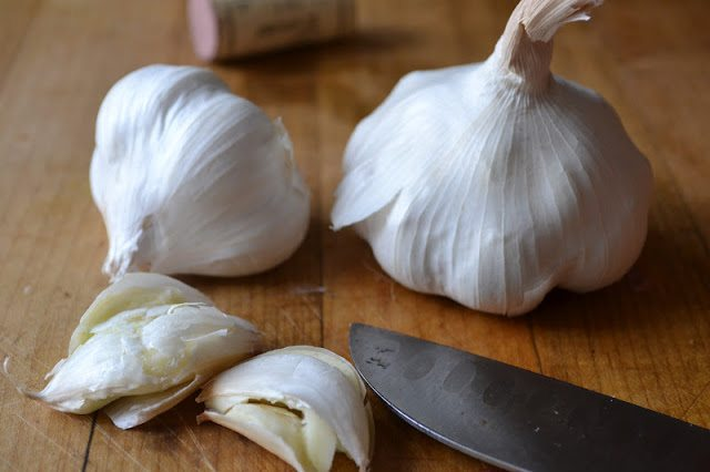 garlic for Ina Garten's Beef Bourguignon