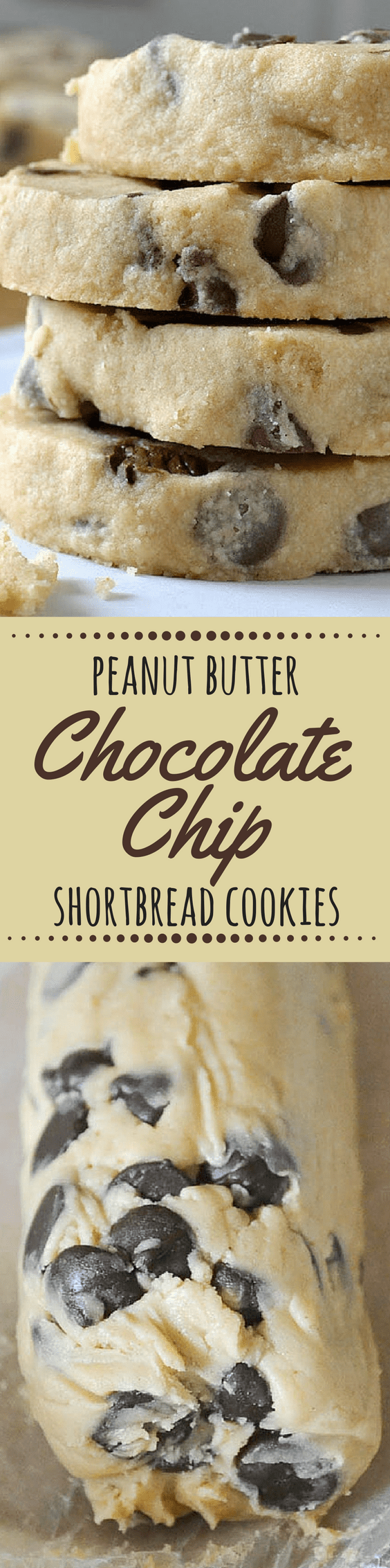 Peanut Butter Chocolate Chip Shortbread Cookies ~ theviewfromgreatisland.com