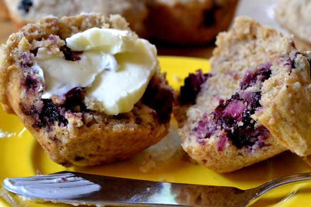 Blackberry Walnut Bran Muffins
