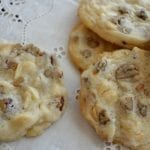 White Chocolate Chip Pecan Shortbread Cookies