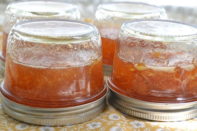 Making habanero peach jam