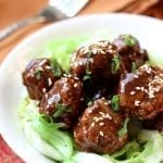Saucy Asian Meatballs and a guest post