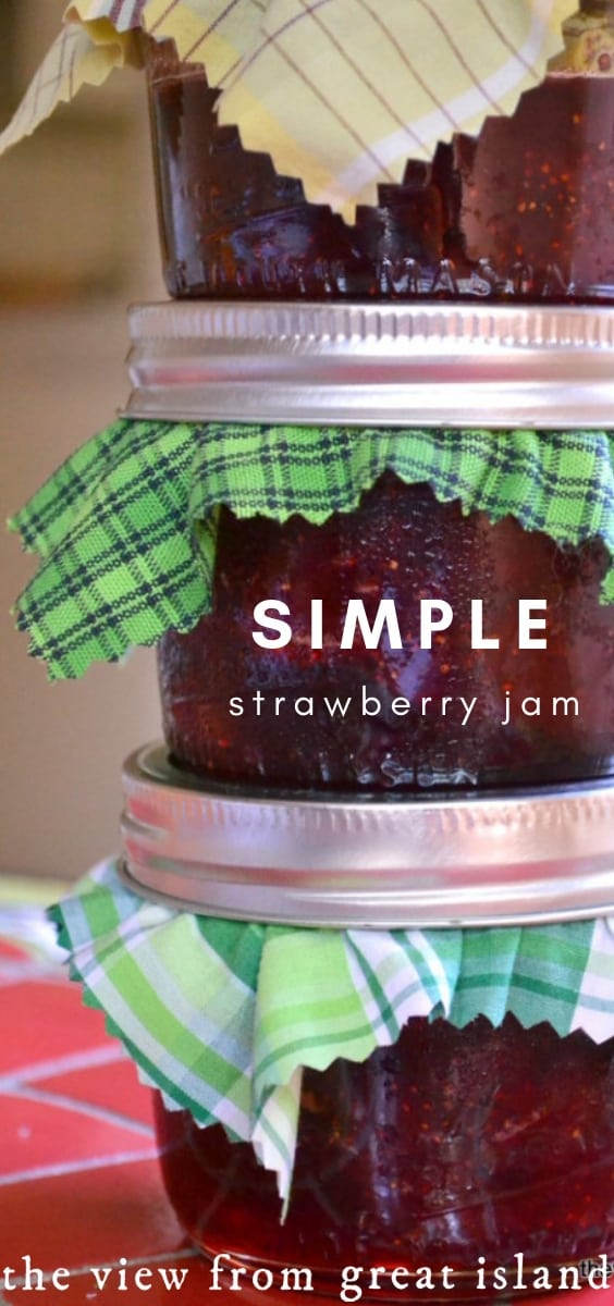 Simple Strawberry Jam pin