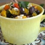Black Bean, Corn and Mango Salsa with Homemade Tortillas