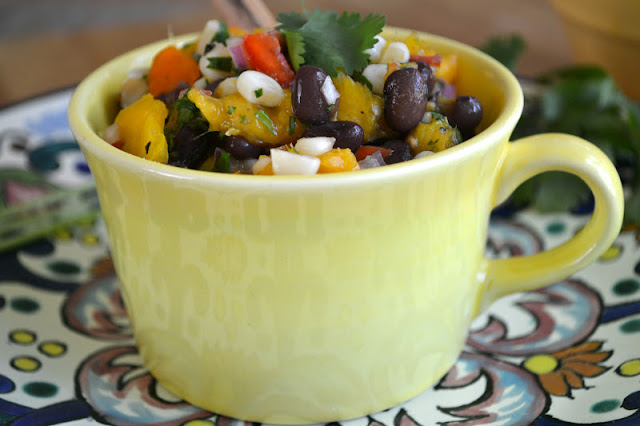 Minimal Monday: Black Bean, Corn and Mango Salsa with Homemade Tortillas