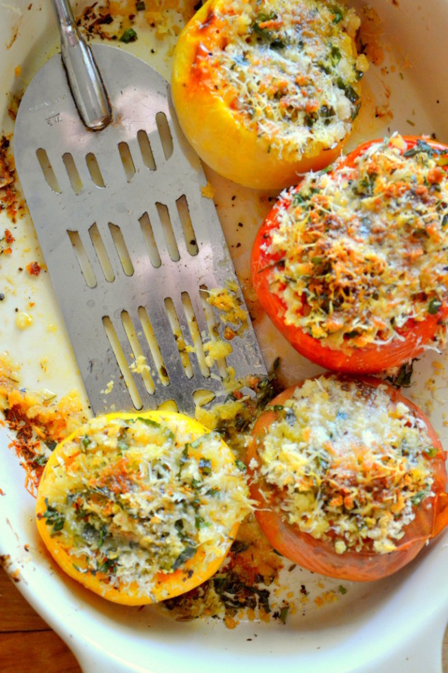 Provencal Tomatoes   The easiest summer side dish!