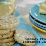 Rosemary Pine Nut Shortbread Crackers