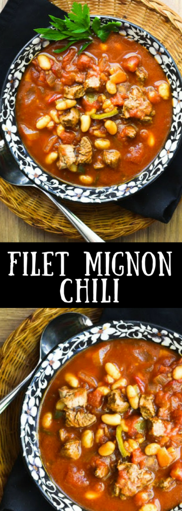Easy Filet Mignon Chili with Masa Harina Biscuits | Game Day | Super Bowl | main course | Tailgating | steak