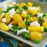 Golden Beet, Pea and Goat Cheese Salad