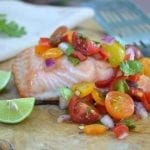 Minimal Monday: Grilled Salmon with Chunky Cherry Tomato Salsa