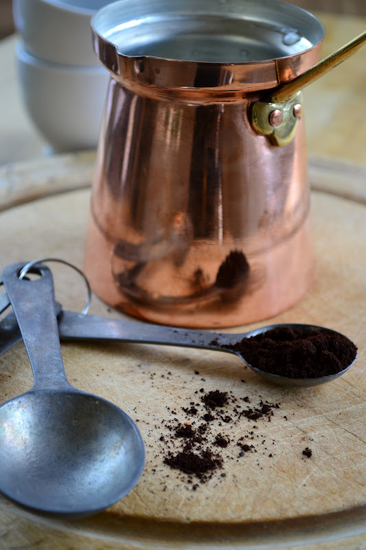 A Turkish coffee pot for brewing Turkish Coffee