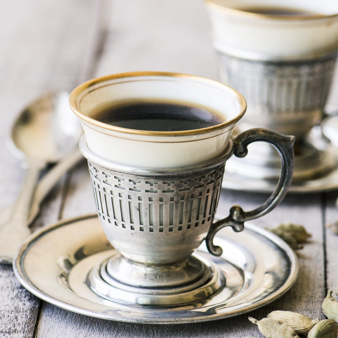 Vintage cups with Turkish Coffee