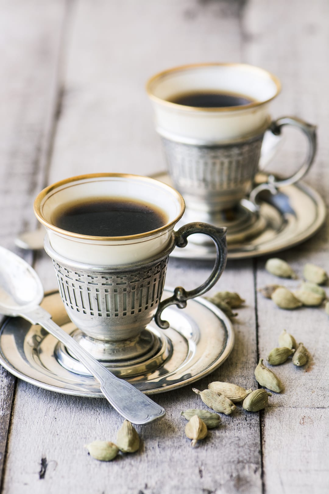 Turkish Coffee in vintage coffee cups