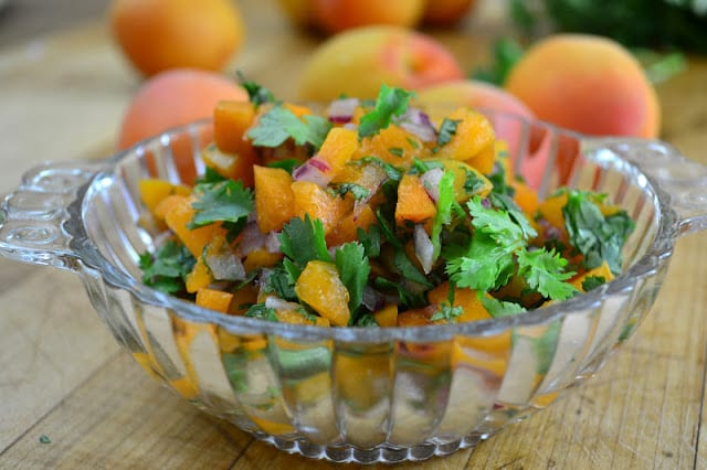 Apricot Salsa (on pork tenderloin)