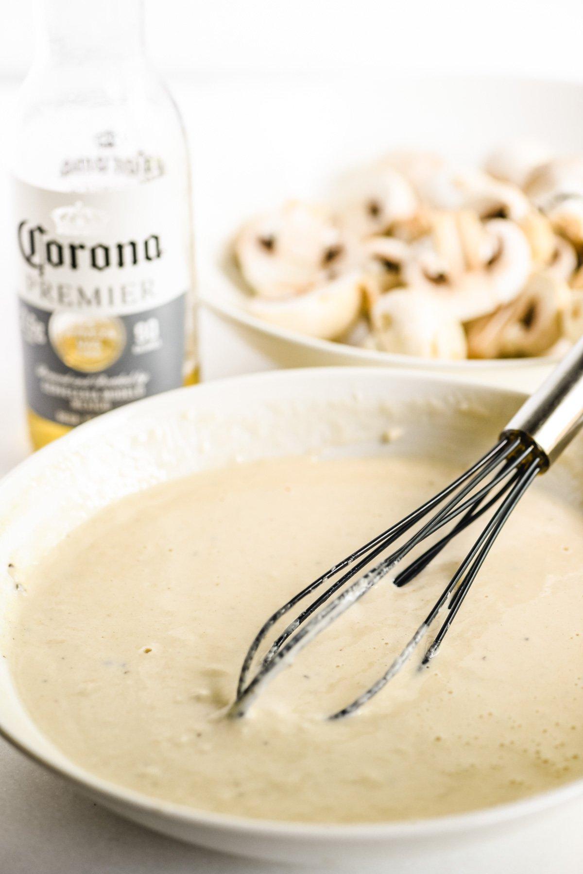 beer batter for frying mushrooms