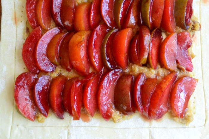 pluot tart made easy with frozen puff pastry